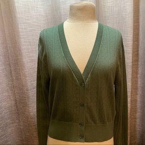 Green cardigan by Twik size large